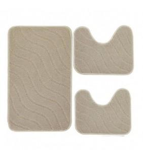 Set di tre tappeti opera color ecru Feridras 105003