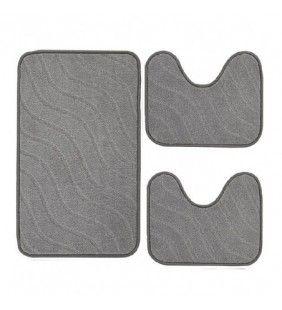 Set tre tappeti color grigio - serie Opera Feridras 105009