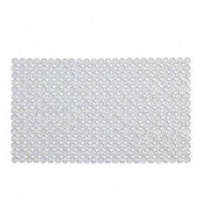 Tappeto antiscivolo in pvc mosaico bianco 40x70 Feridras 843001