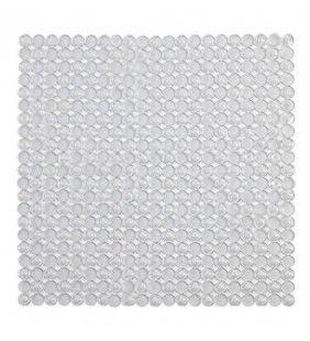 Tappeto antiscivolo in pvc mosaico bianco 54x54 Feridras 843002