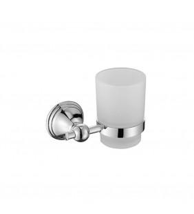 Porta bicchiere da parete con bicchiere in vetro - serie queen Aquasanit A210100CR