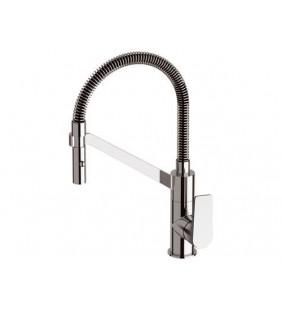 Rubinetto per lavello cucina di design con doccetta girevole - serie dream Remer D533