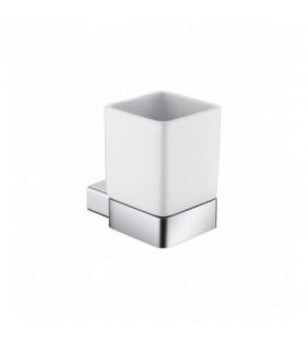 Porta bicchiere in ceramica da parete in alluminio - serie leaf (MM1) Aquasanit A206100AS