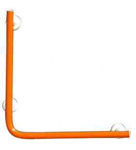 Maniglia bagni disabili e anziani verticale e laterale cm.50x50 color arancio Goman LEO-5050/65
