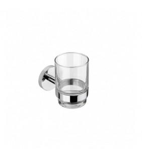 Porta bicchiere da muro serie nexo - fissaggio incollo o viti Aquasanit A203100CR
