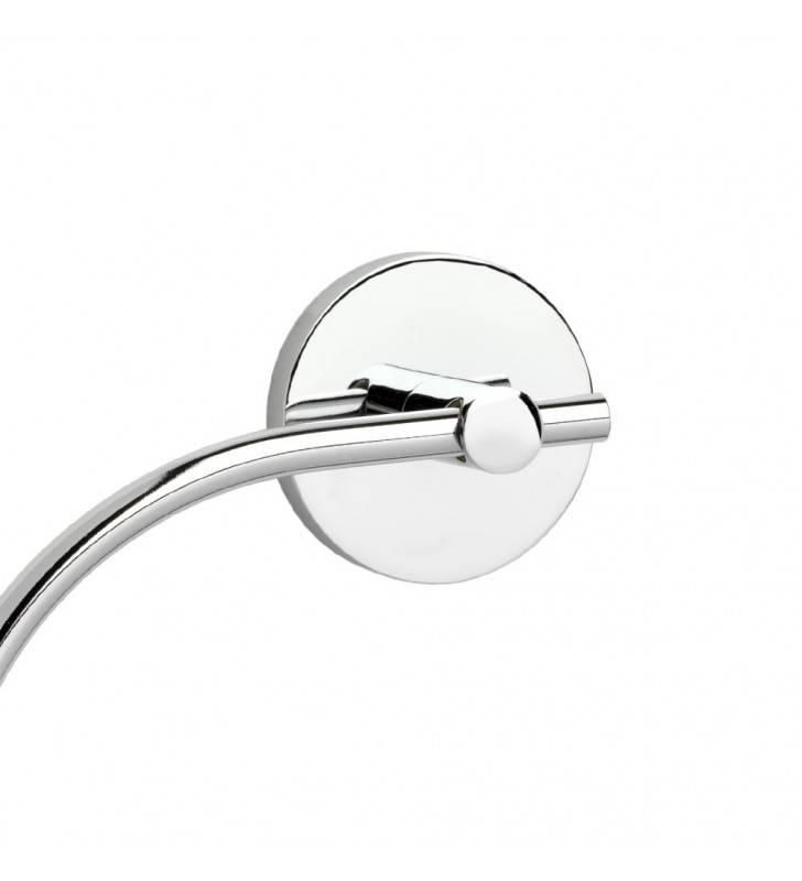 Porta salviette ad anello da muro serie nexos - fissaggio incollo o viti Aquasanit A203160CR