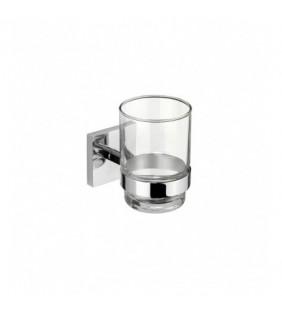 Porta bicchiere da parete serie xeno - fissaggio incollo o viti Aquasanit A204100CR