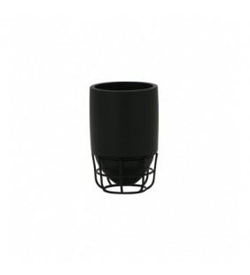 Bicchiere nero - serie grid Aquasanit QG1100NE