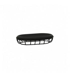 Porta sapone nero - serie grid Aquasanit QG1110NE