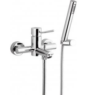 Rubinetto vasca esterno con doccia duplex - serie minimal Remer N02