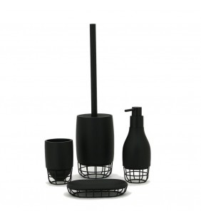 Set completo nero - serie grid Aquasanit SET61