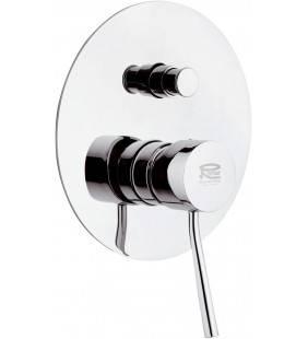 Rubinetto da incasso con deviatore per vasca/doccia serie minimal Remer N09L