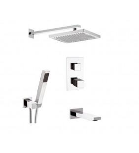 Set con bocca a incasso per rubinetto vasca-doccia - serie skyline thermo Daniel Rubinetterie SKT617ZCR
