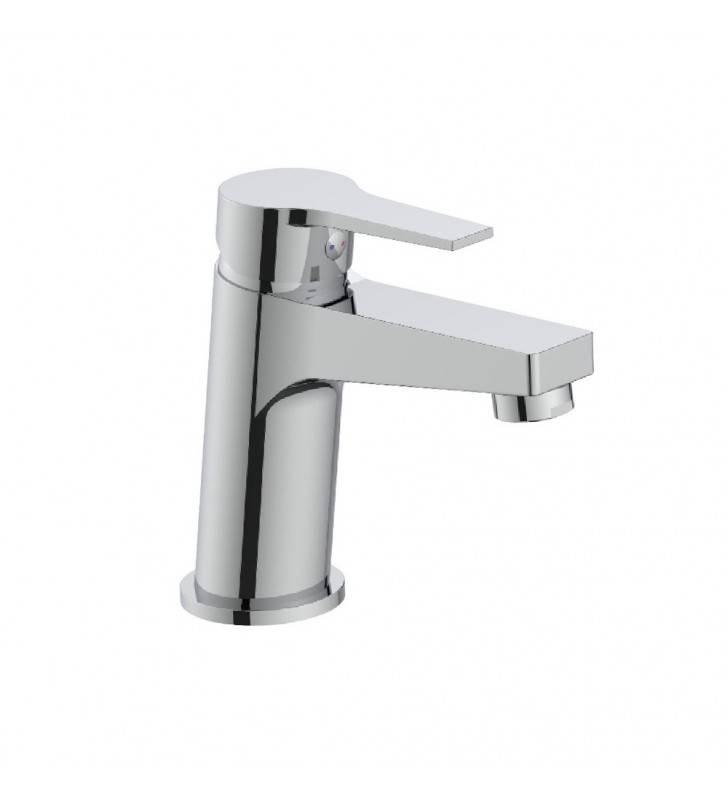 Rubinetto lavabo cromato con leva in metallo - Serie Hellis Idrobric SCARUB1014CR
