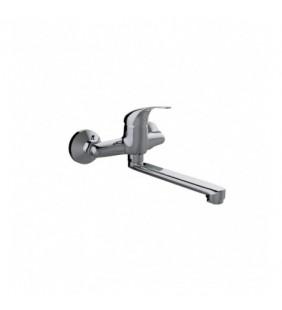 Miscelatore lavello con attacco a parete e bocca girevole - Serie Fast Idrobric SCARUB0942CR