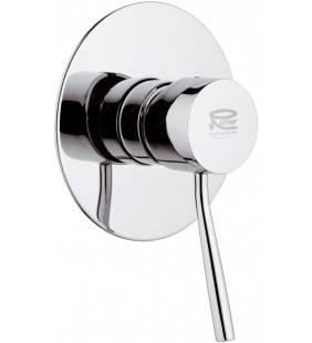 Rubinetto monocomando da incasso per doccia con piastra lusso serie minimal Remer N30L
