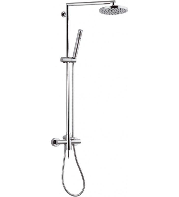 Miscelatore esterno doccia con deviatore integrato e - Doccia con soffione e doccetta ...