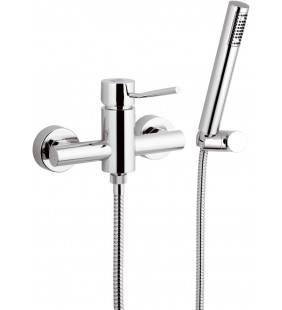 Rubinetto esterno per doccia con doccia duplex serie minimal Remer N39