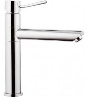 Monocomando lavello con bocca girevole dotato di dispositivo luminoso ambient serie minimal