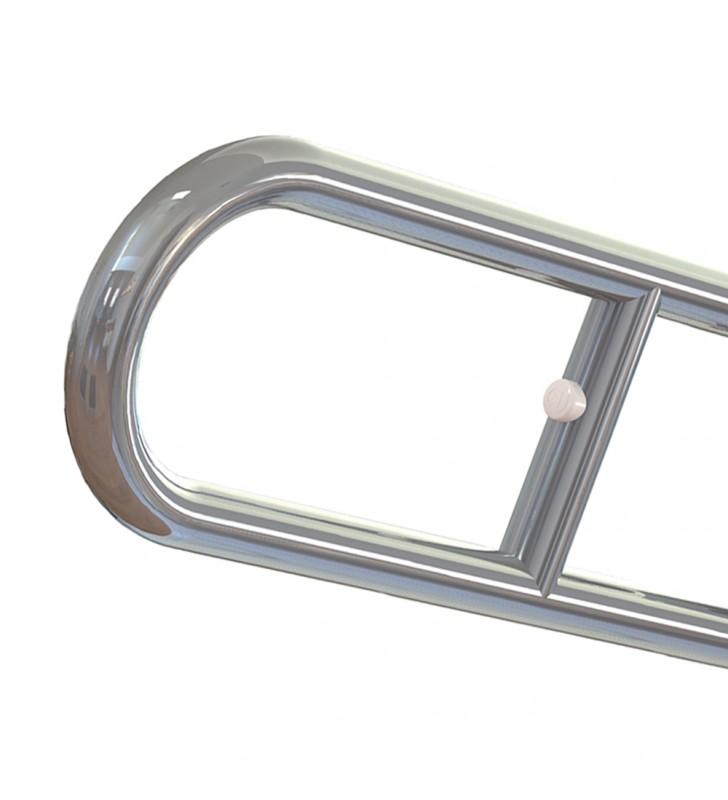 Maniglione ribaltabile serie care in acciaio inox lucido Aquasanit A10690AX008