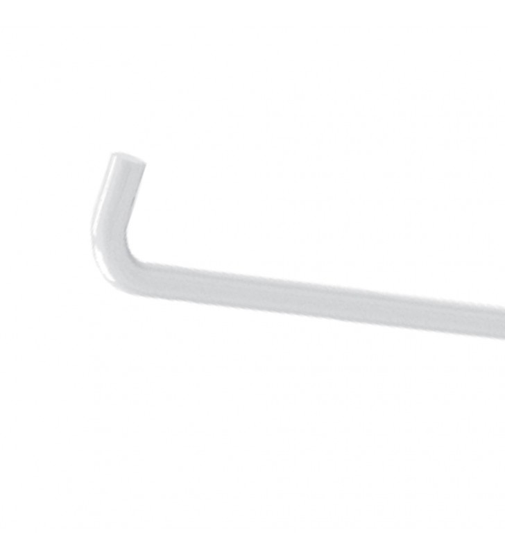 Portarotolo serie care in acciaio verniciato bianco per maniglione ribaltabile Aquasanit A10690AC009