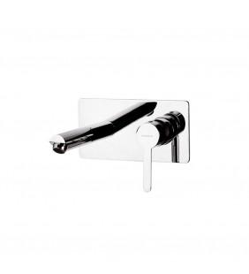 Mariani lavabo a parete serie noir finitura cromata Mariani Rubinetterie B00565NO00