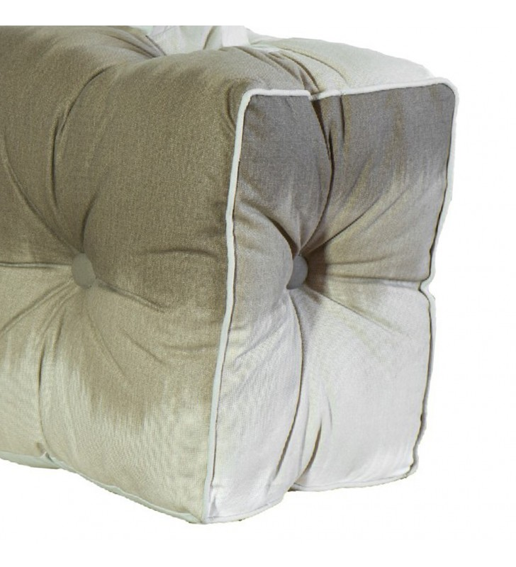 Pouf lipari in cotone beige 40x40x30 Juteco POUF19MAR