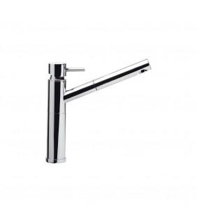 Miscelatore monocomandoserie suvi per lavello cucina con doccia estraibile Daniel Rubinetterie S20613CR