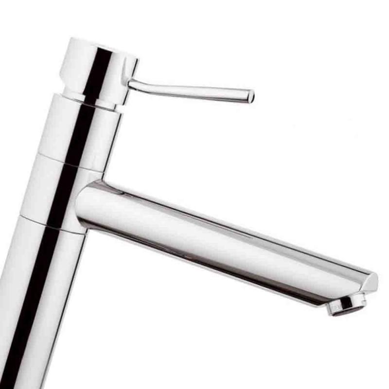 Monocomando lavello con bocca girevole dotato di dispositivo luminoso ambient serie minimal Remer NA40