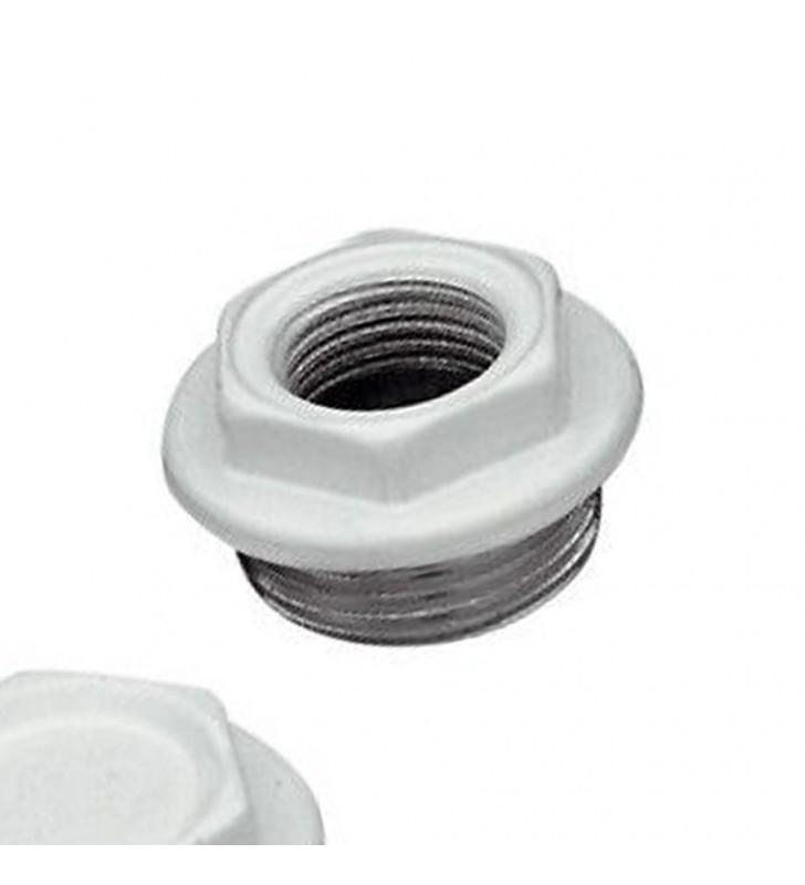 Kit tappo verniciato per radiatori in alluminio 1x1/2 white RR 541SX1012