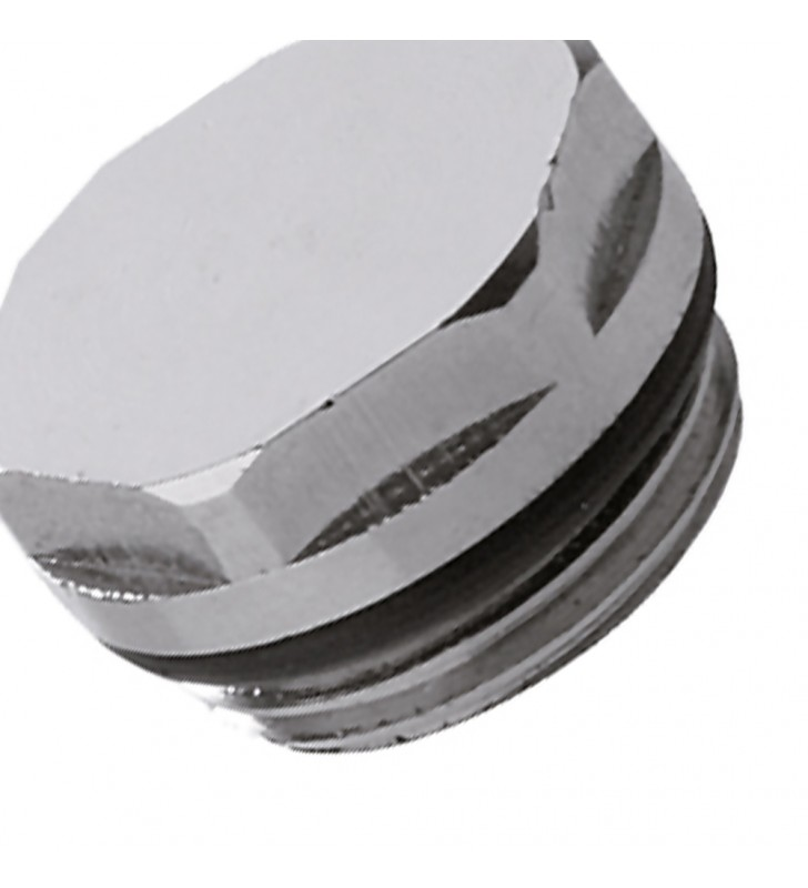 Tappo in ottone cromato per radiatori 3/8 RR 431TA38