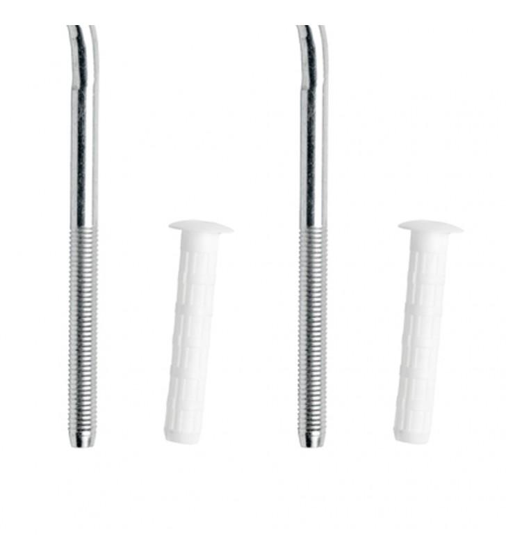 Coppia mensole per radiatori in chisa e acciaio 205 mm Remer 630205