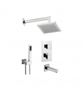 Set doccia con soffione, supporto e doccetta - serie sq3