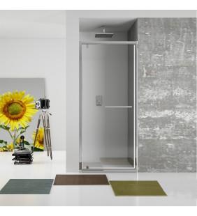 New plus - porta battente 77-81cm vetro trasparente 6 mm, h. 1,95 Aquasanit B0342PCR01