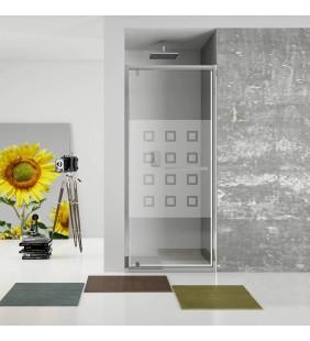 New plus - porta battente 87-91 cm vetro serigrafato 6 mm, h. 1,95 Aquasanit B0344PCR55