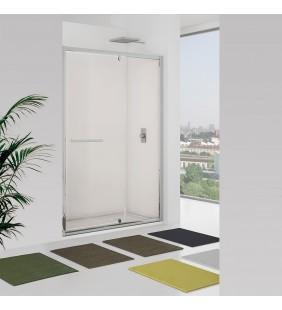 Porta battente e fisso 137-141 cm, vetro trasparente - new plus Aquasanit B0348PCR01