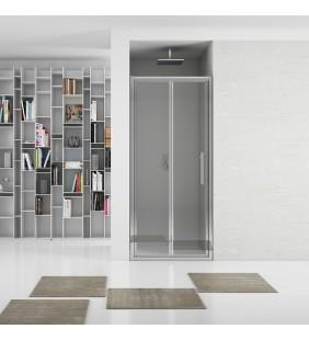 New plus - porta soffietto 97-101 cm vetro trasparente 6 mm, h. 1,95 Aquasanit B0376PCR01