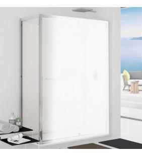 Parete fissa 87-89 cm vetro trasparente 6 mm, h. 1,95 da abbinare ad una porta - new plus Aquasanit B0354PCR01