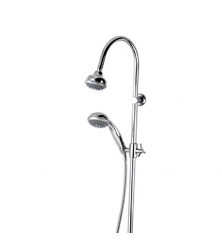 Colonna doccia con colonna saliscendi, doccetta e soffione - serie 35 Remer F37 2
