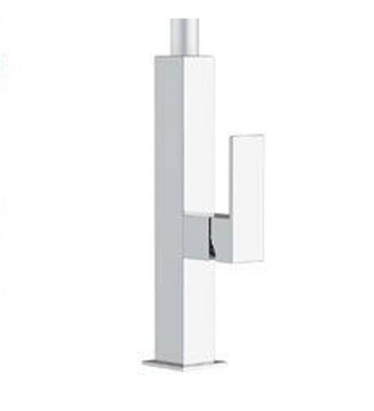 Rubinetto lavello con canna bianca e dispositivo led - serie kitchen white spout colour Remer QKR73B
