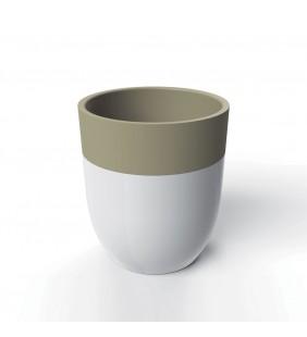 Bicchiere bianco/tortora - serie crazy Aquasanit QD1100TR