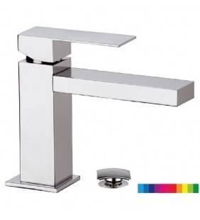 Rubinetto lavabo con retroilluminazione serie skyline ambient Daniel Rubinetterie SKA605CR