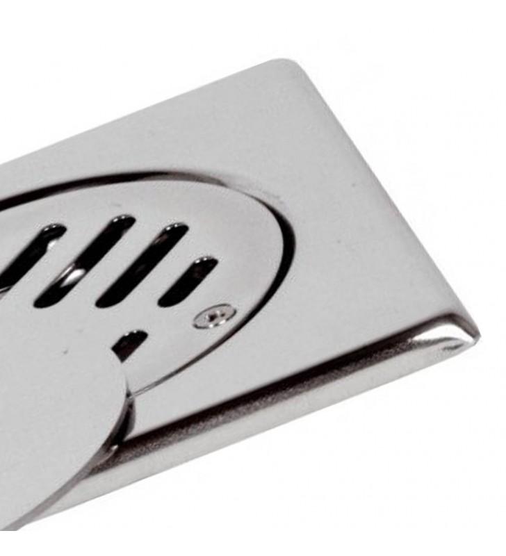 Copertura a pavimento 10x10 con griglia fissa e coperchio mobile RR 913GVC10