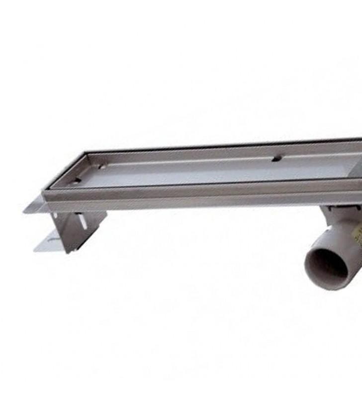 Canalina sifonata a pavimento piastrellabile 12,5x120 RR 913RP12120