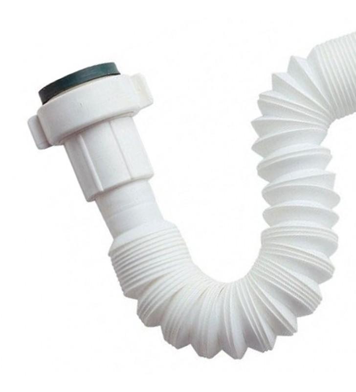 Canotto flessibile estensibile bianco 1x1/2 x diam mm 40 (MM2) Remer 93311240
