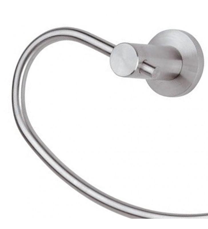 Portasalviette ad anello - serie minimal inox Remer MI44INOX