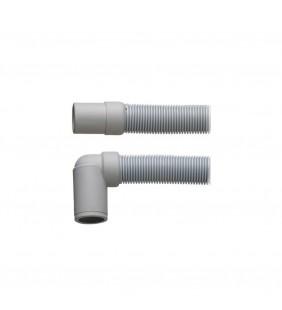 Tubo di scarico per lavatrice con raccordo curvo 400 cm (MM1)