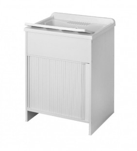 Lavapanni 60x60 con anta scorrevole, in resina, bianco. made in italy Idroclic 40IC07K