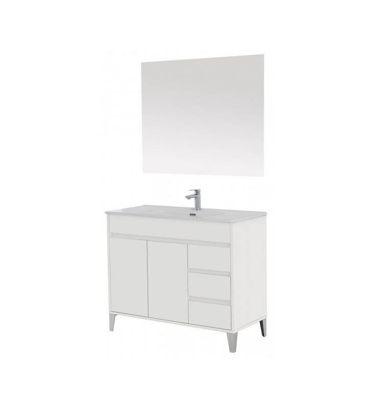 Composizione bagno Bianco laccato Linea Mondo Feridras 606003