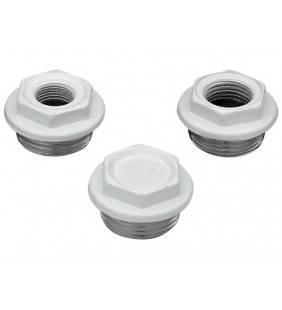 Tappo verniciato white per radiatori in alluminio 1 pollice  541SX10